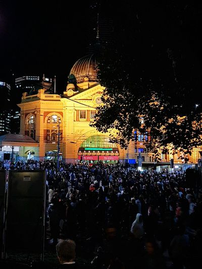 Carnival Crowds And Details Carnival Crowds And Details The City Light Carnival Party Whitenightmelbourne Whitenight Melbourne City Melbournephotos Flinders Street Station Flinders Crowd Celebration Whitenightmelb
