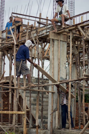 Built Structure Construction Site Construction Worker Lifestyles Machinery Mans Working