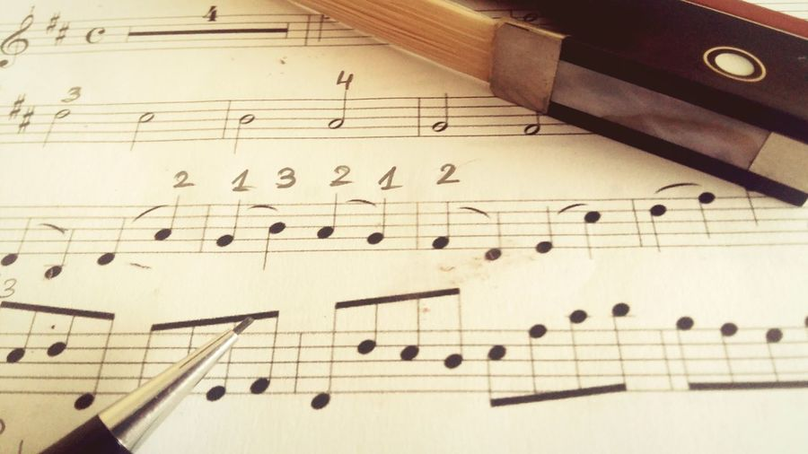 Close-up of musical note