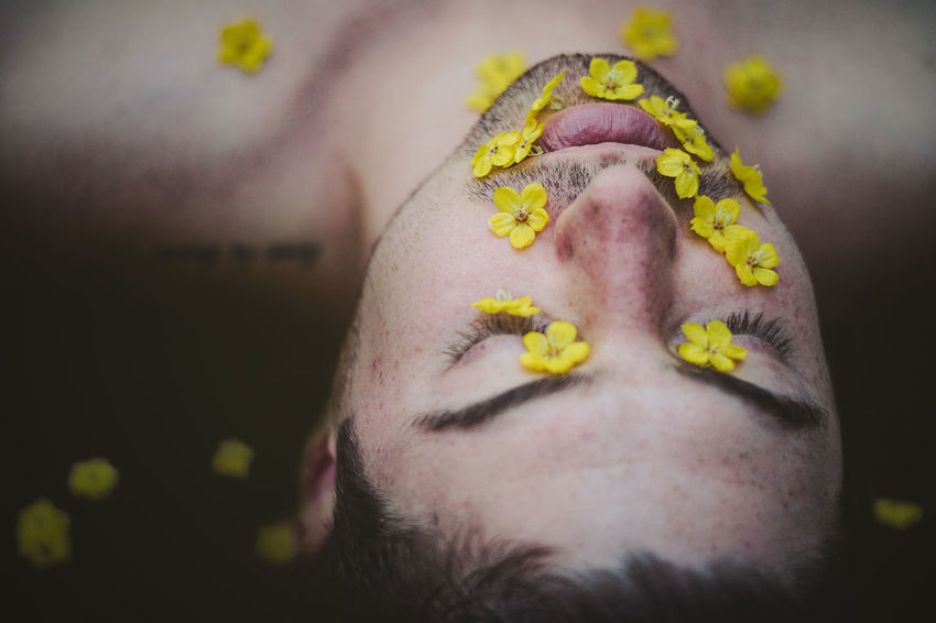 Flower Face Beard Body Part Close-up Contemplation Eyes Closed  Facial Hair Flower Focus On Foreground Headshot Human Body Part Human Face Leisure Activity Lifestyles Nakedmen One Person Plant Portrait Real People Relaxation Sexyboy Skin Young Adult Love Is Love The Portraitist - 2018 EyeEm Awards