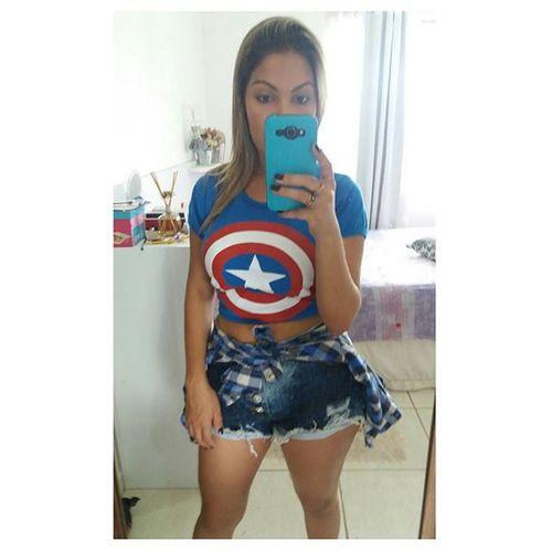 🙅🎈🎯ILoveSuperHeroShirts Comicgirls Bomdia Captainamerica cara de Panda Supergirl Nerdgirl Comics
