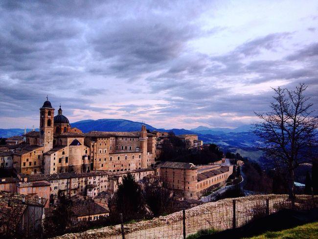 Urbino Architecture UNESCO World Heritage Site Italy Marche Clouds Rinascimento