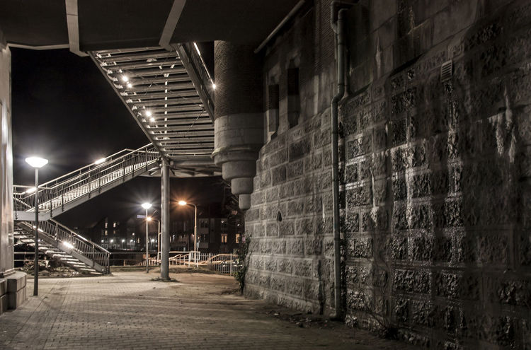 Night Lights Old Town Old Wall Stairs & Shadows Architecture Building Exterior Built Structure City Darkness And Light Illuminated Night No People Outdoors Tunnel