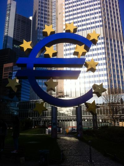 Eyeem Market EZB European Central Bank Euro Euro Sign € € Sign Frankfurt Am Main Frankfurt Money
