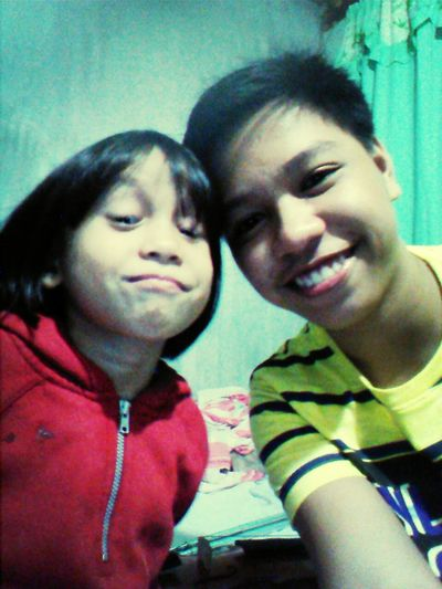 with my little sister
