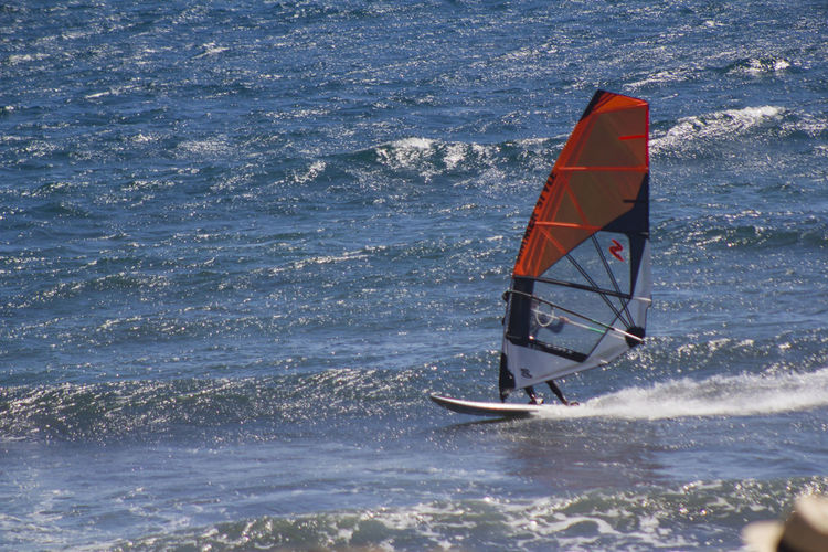 Windsurfing 1/1600 Second 200mm 200mmf5 550d F5  ISO Beach Elmedano Iso320 Latejita Sea Sun Tenerife Tenerife Island Teneriffa Windsurf Windsurfer Windsurfing