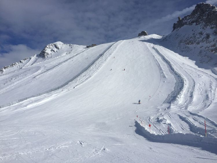 Beauty In Nature Cold Temperature Danger Day Empty Slopes Landscape Mountain Mountain Range Nature No People Outdoors Scenics Sky Snow Snowcapped Mountain Steep Slope Tranquil Scene Tranquility Weather White Color Winter Zillertal