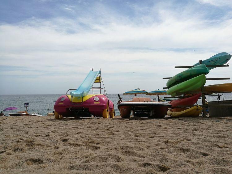 Beach Beachphotography Beachlife Holiday SPAIN Lloretdemar Pedalo Pedalo With Slide Summer