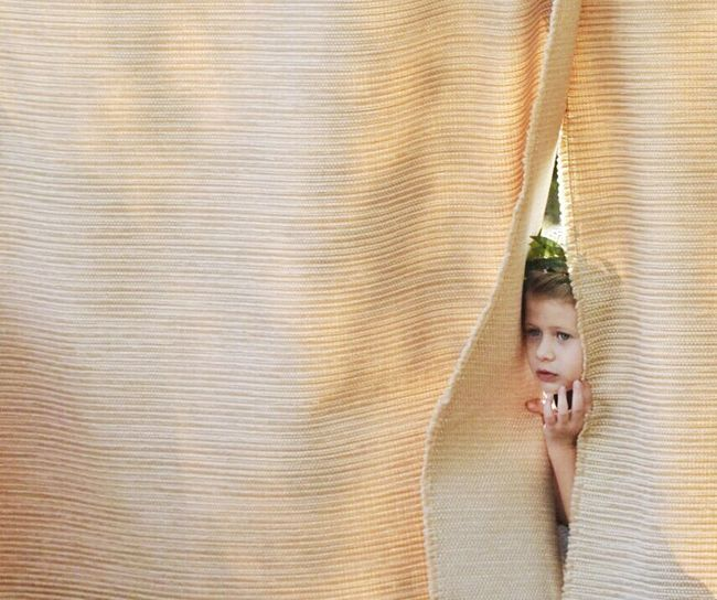 Peeking Out Peeking Through Peeking Through Curtain Child Peeking Through Curtain Backstage Christinemargaret Showcase August Eyeemphoto
