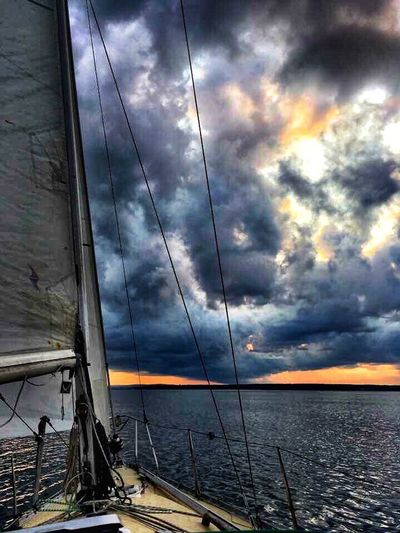 Pictou Harbour, Nova Scotia September 2017 Sea Sky Cloud - Sky Water Tranquil Scene Nature Outdoors Scenics Beauty In Nature Horizon Over Water No People Tranquility Sunset Nova Scotia Canada Ocean