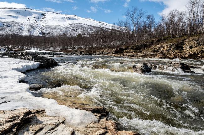 Abisko river flow Abisko Sweden
