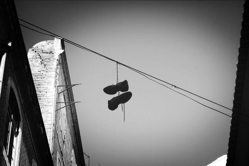 just hanging.