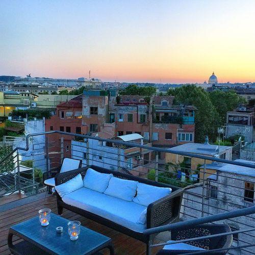 Rome Landscape Sunset Rooftop