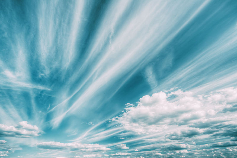 Blue And White Colours Natural Sky Abstract Background. Backgrounds Nature Sky Blue Day Idyllic Cloud - Sky Could  White Colors Abstract Beautiful Cloudscape Natural Scenics Summer Weather 17.62°