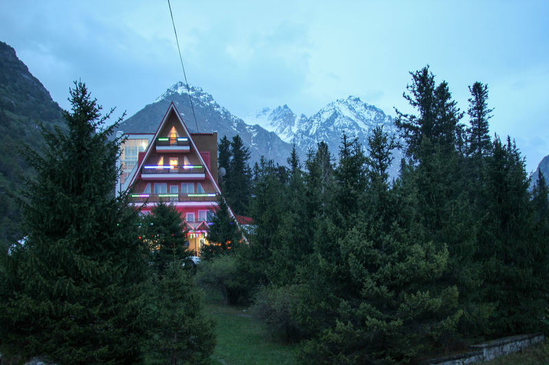 Alaarcha Architecture Beauty In Nature Bishkek Building Exterior Built Structure Chalet Day Kyrgyzstan Mountain Nature No People Outdoors Place Of Worship Sky Snow Travel Destinations Tree