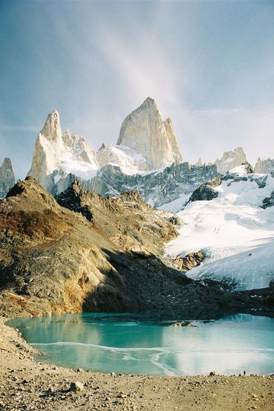 Analogue Photography Lost In The Landscape Argentina Beauty In Nature Cold Temperature Day Filmisnotdead Glacier Iceberg Idyllic Lake Landscape Mountain Mountain Range Nature No People Outdoors Scenics Sky Snow Snowcapped Mountain Tranquil Scene Tranquility Water