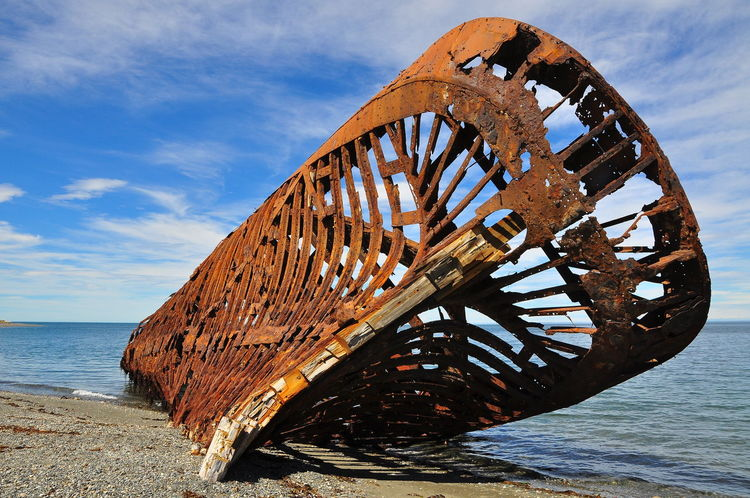 Abandoned Damaged Deterioration Naufragio Shipwreck Beach