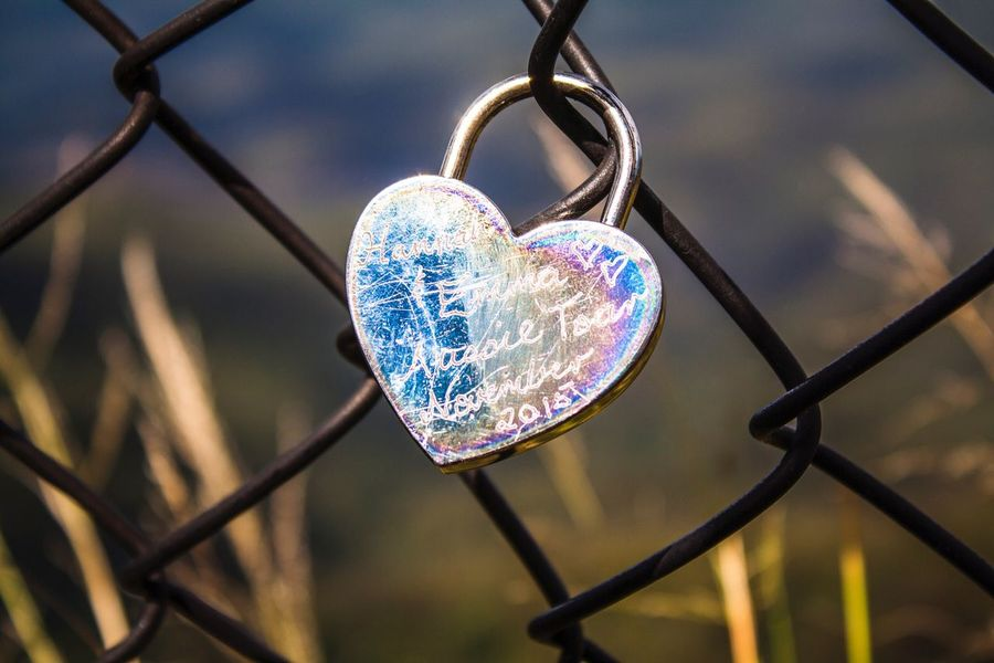 Heart Lock Lock Wire Fence Scratched Metal Love Note Love Notes Etched In Metal Etched Initials Etched Silver Lock Reflective Surface Lasting Love Leaving A Mark Tall Grass Golden Grass Late Afternoon Late Afternoon Light Blue Mountains Blue Mountains National Park Australian Landscape Australia Sydney, Australia Sydney Hidden Gems