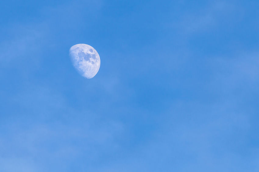 Blue Clear Sky Day Desert Distant Field High Section Low Angle View Moon Outdoors Relaxing Moments Showcase: December