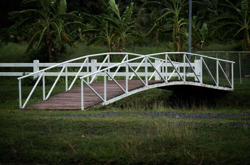 View of bridge over land