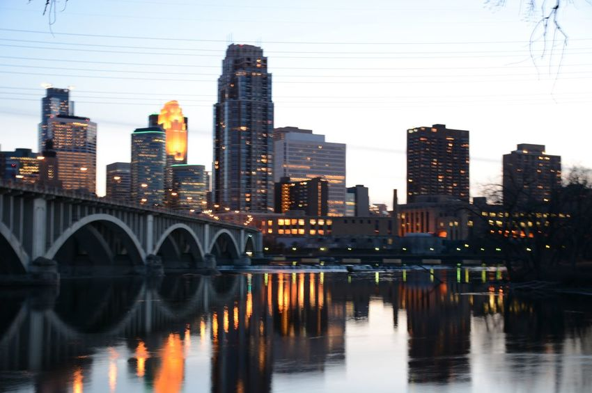 Architecture Bridge Built Structure City City Life Cityscape Illuminated Minneapolis Minneapolis Architecture Minneapolis Minnesota MinneapolisPhotography Minnesota💙 Modern Night River River View Skyscraper