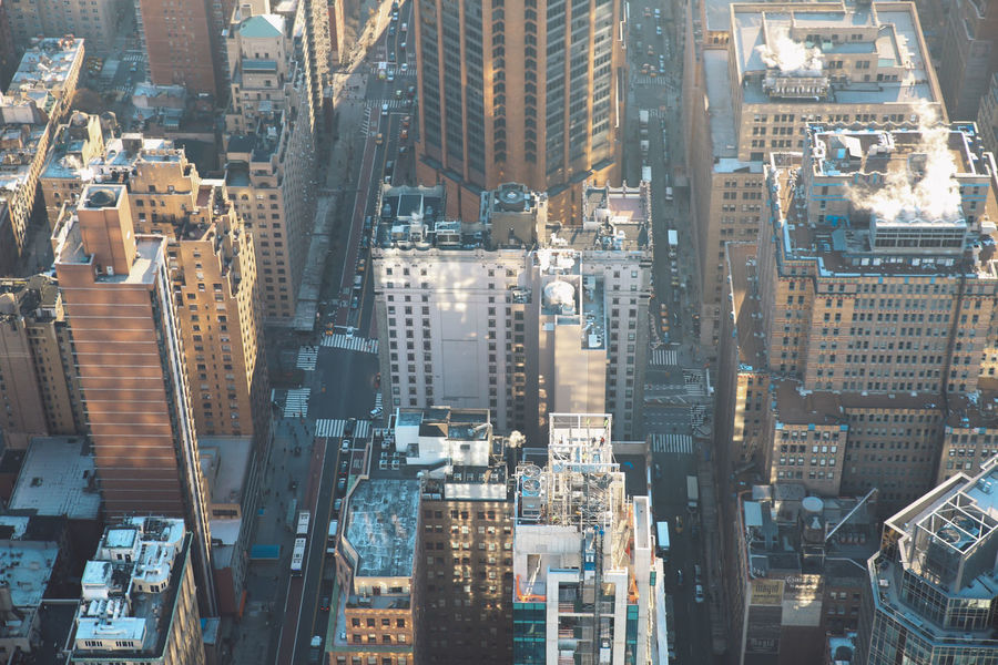 Aerial View Architecture Architecture Building Exterior City City Street Cityscape Cold Crowded Empire State Building Manhattan Morning New York New York City NYC Outdoors Roof Rooftop Skyscraper Sunrise Tourism Tower Travel Travel Destinations Winter Mobility In Mega Cities