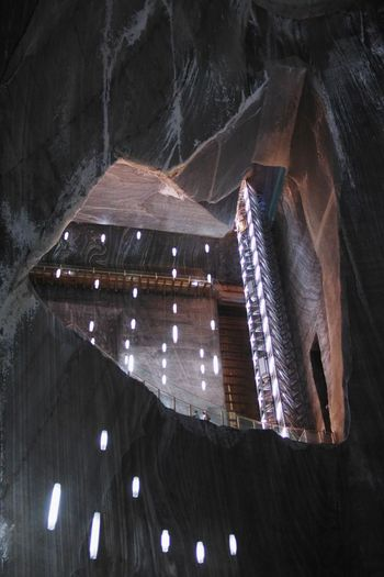 Indoors  Low Angle View No People Built Structure Architecture Day Illuminated Underground Romania Transilvania Turda Travel Photography Travel Salt Mine Saltmine  Saltmine  Indoors  Travel Destinations Undergroundphotography Underground Art Mine The Week On EyeEm Lost In The Landscape Perspectives On Nature The Architect - 2018 EyeEm Awards