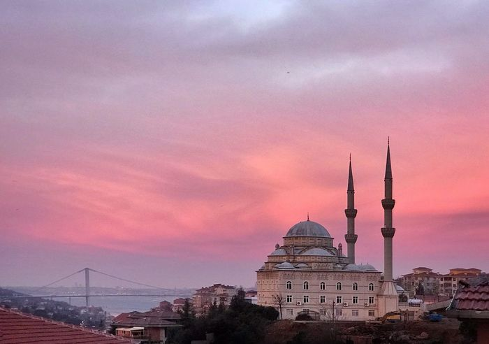Architecture Sunset Built Structure Sky Travel Destinations Building Exterior Tourism Dome City Travel No People Cloud - Sky Pink Color Outdoors Cityscape Illuminated Day