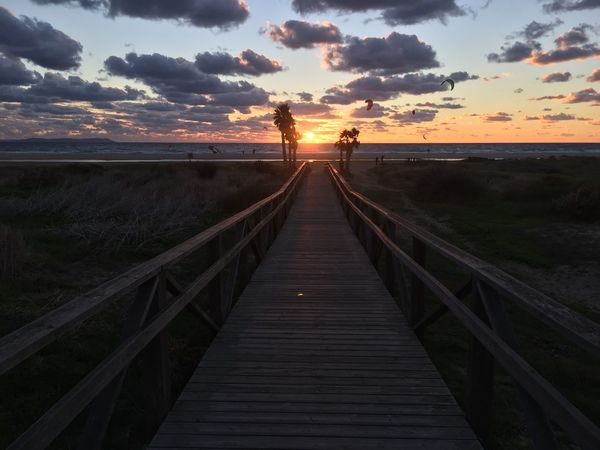 Beach Beauty In Nature Built Structure Cloud - Sky Day Horizon Over Water Nature No People Outdoors Scenics Sea Silhouette Sky SPAIN Sunset Tarifa The Way Forward Tranquil Scene Tranquility Travel Travel Destinations Water Wood Paneling Neighborhood Map