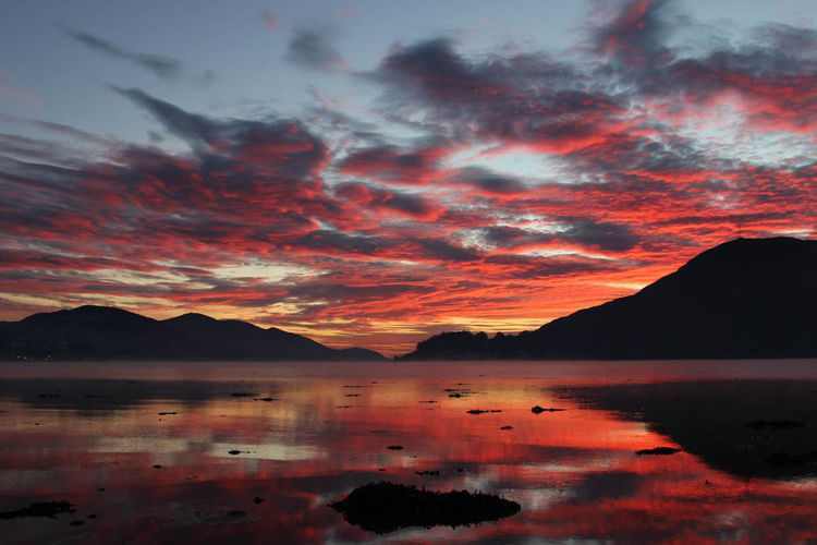 Sunset Loch Linnhe Caol Fort William