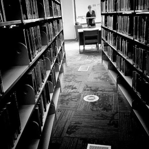 The romantic mystery of being deep in the Stacks  Library
