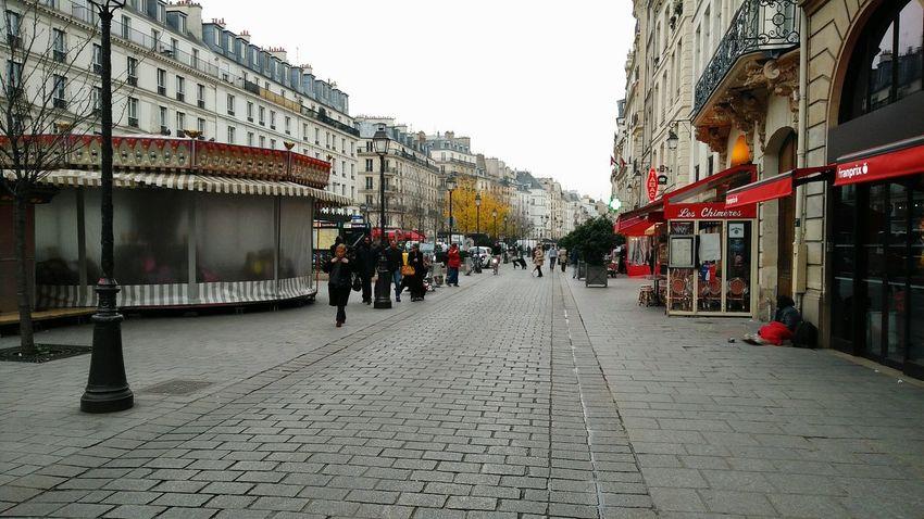 Streets Of Paris (in Le Marais). · Paris France Marais Quarter  Architecture City Life Urban Life Urban Landscape Winter Cold Bland Bricks