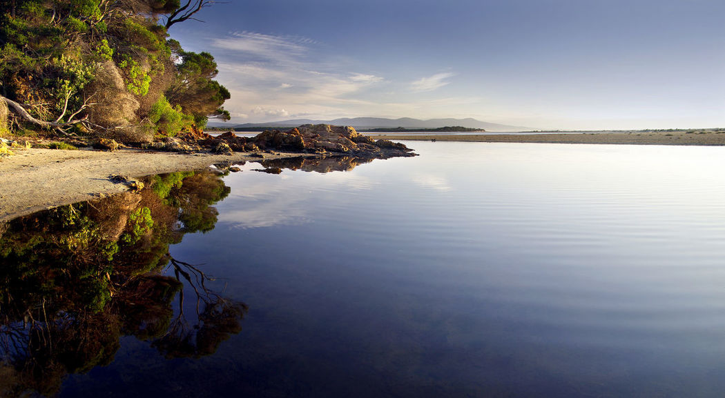 Beauty In Nature Blue Landscape Mallacoota Nature No People Outdoors Reflection Scenics Sea Sky Tranquil Scene Tranquility Victoria Water