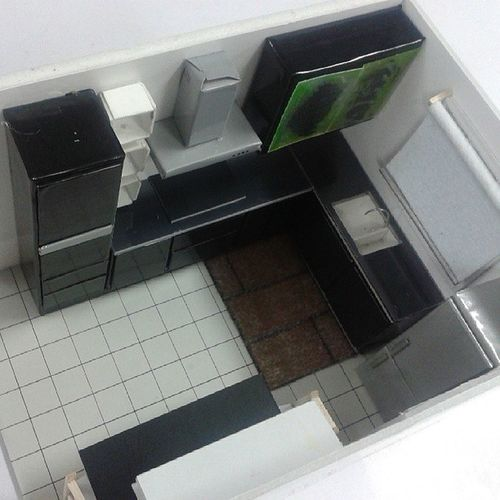2nd assignment for INA 101 interior design . credit to me and my team :) @interiordesignstudent Diningarea Kitchen IKEA