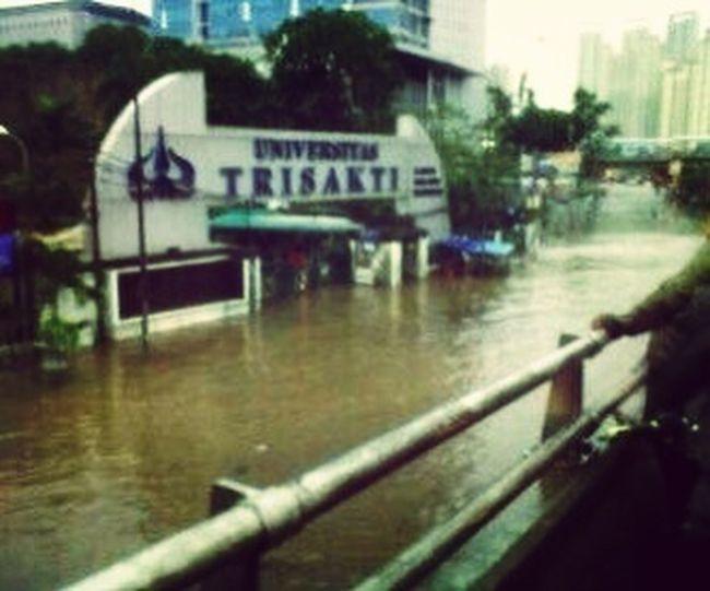 Trisakti Campus Floodplain Indonesia