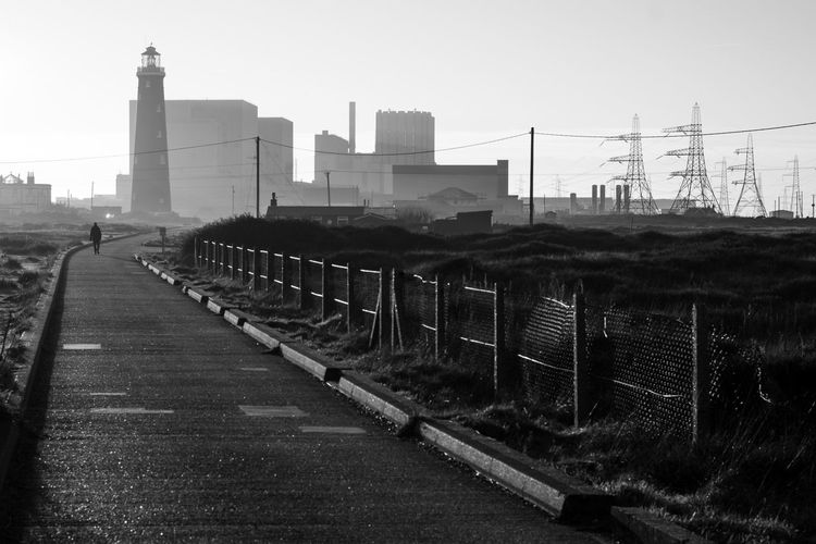 Untitled - Dungeness Series Monochromatic Monochrome Dungenesslighthouse Fineartphotography Dungeness Magnumphotos Malephotographerofthemonth Dungeness Series Alucyart Moody Streetphoto_bw Hazy  Sky Architecture