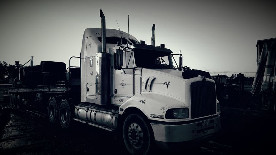 Truck Semitrailer Farm Black And White Farm Life Machinery Artist Outback Check This Out PhonePhotography Hello World Check This Out Big Wheels Truckerslife