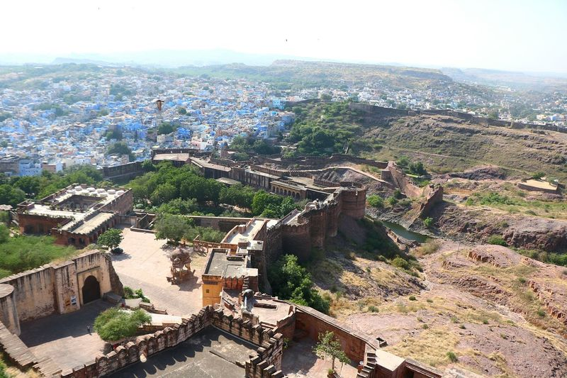 Aerial View Outdoors Building Exterior Architecture Cityscape Sky Jodhpur Rajasthan Jodhpur Fort Jodhpur India Blue City Jodhpur Rajasthandiaries Rajasthan Beauty