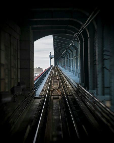 Tunneling Architecture Architecturelovers Bridge Train Tracks Philadelphia Philly
