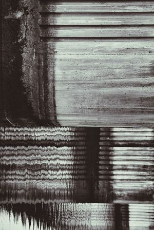 Concrete Texture Concrete Wall Concrete Pillars Reflections In The Water Rectangles Horizontal Lines Parallel Lines Abstract Photography Abstract Pattern Monochrome Water Rotated Gradation Perspective