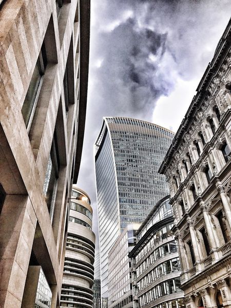Architecture Modern Skyscraper Building Exterior City Built Structure Low Angle View Sky Outdoors Cityscape No People Day London Walkie Talkie Building
