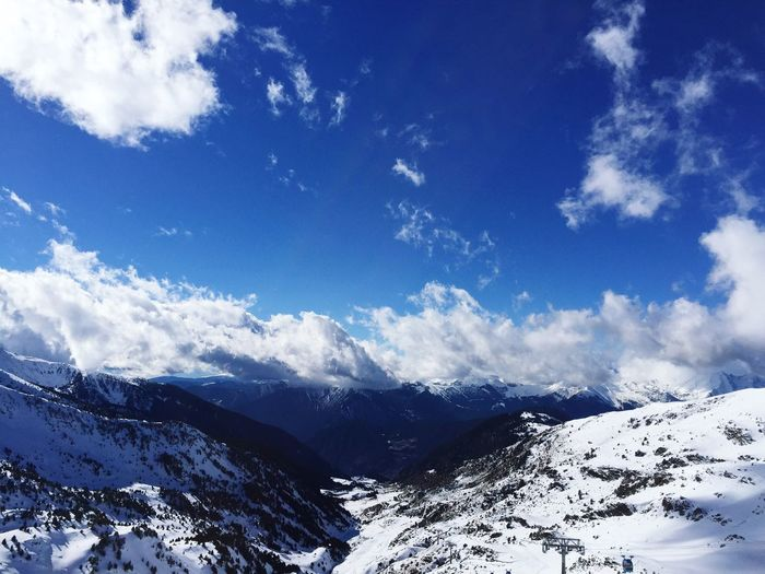 Blue Wave Sky Sky And Clouds Sky_collection Sky_collection Blue Sky Mountains Snow Winter Wintertime Winter Wonderland Clouds