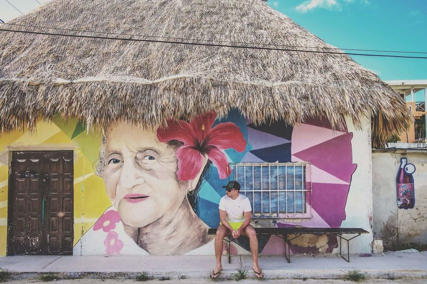Mexico Holbox Island Holbox Yúcatan One Person Multi Colored Day Real People Outdoors People Adults Only Adult Young Women Only Women Young Adult Sky