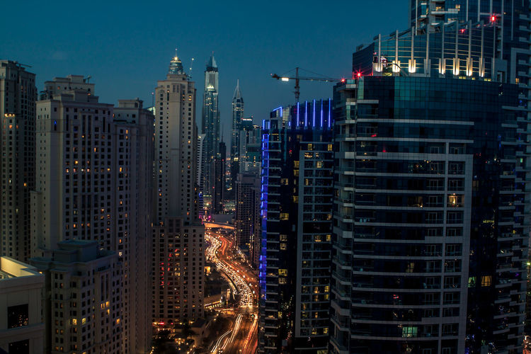 The view of Dubai from the top of the Jumeriah Beach Residence Building Dubai Dubai Marina Dubaicity Dubai❤ High Rise Night Night Lights Nightphotography Streetphotography UAE UAE , Dubai Cities At Night