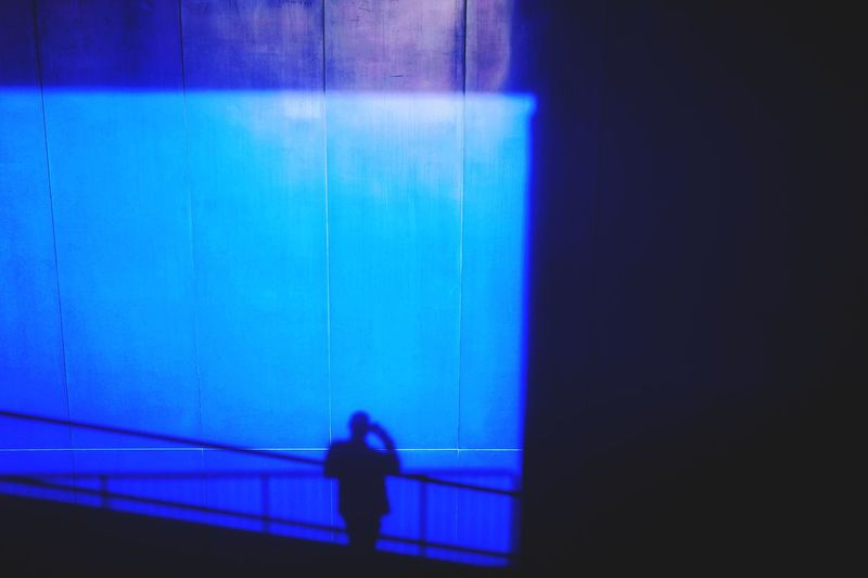 Shadow Blue Silhouette Indoors  One Person Night Adult People Illuminated Colour Your Horizn