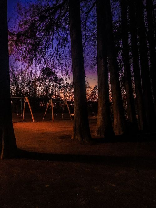 The Great Outdoors With Adobe abandoned Childhood Park Sunset Sunset_collection EyeEm Best Shots - Sunsets + Sunrise EyeEm Childhood Empty Empty Places Colours Light And Shadow