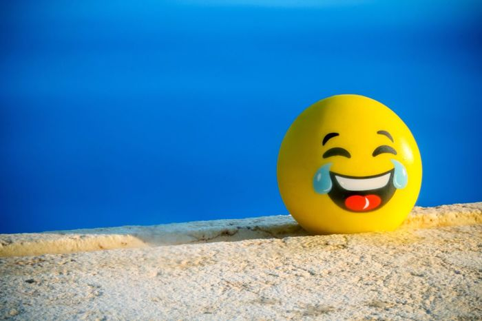 Lefkada Blue Smiley Face Sunlight Yellow Close-up No People Outdoors Day Water Swimming Pool Laugh Laughing Antistress Blue Summer Holiday