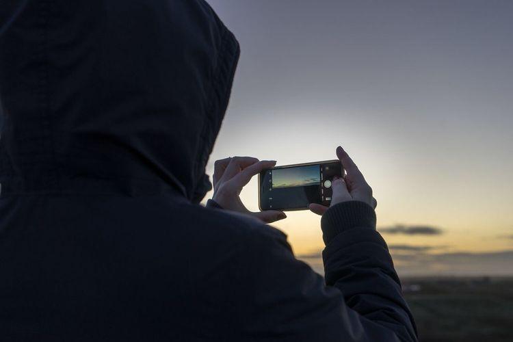 Sunset Smartphone Photograph @ Rømø Beach Smart Phone Photographing Rømø Island Sunset