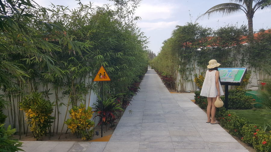 New Grand Vrio resort in Da Nang. Bamboo Resorts Lifestyle Holidays Vacations Recreation  Girls Sunhats  Signs GrandVrio Pathway