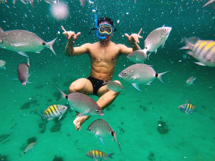 Diving w/ ma bros Water Swimming Nature The Traveler - 2018 EyeEm Awards Underwater First Eyeem Photo